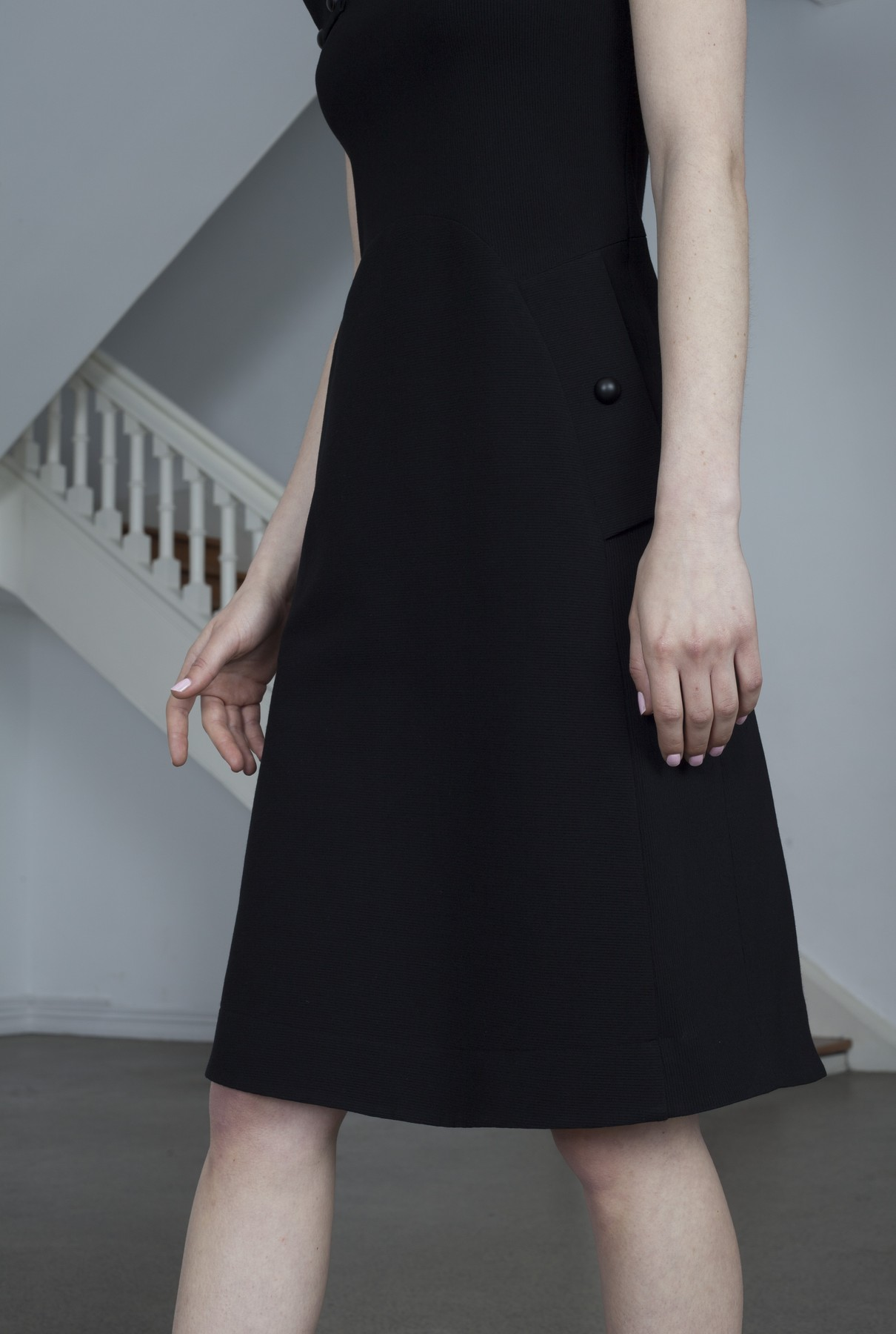 sleek dress-black