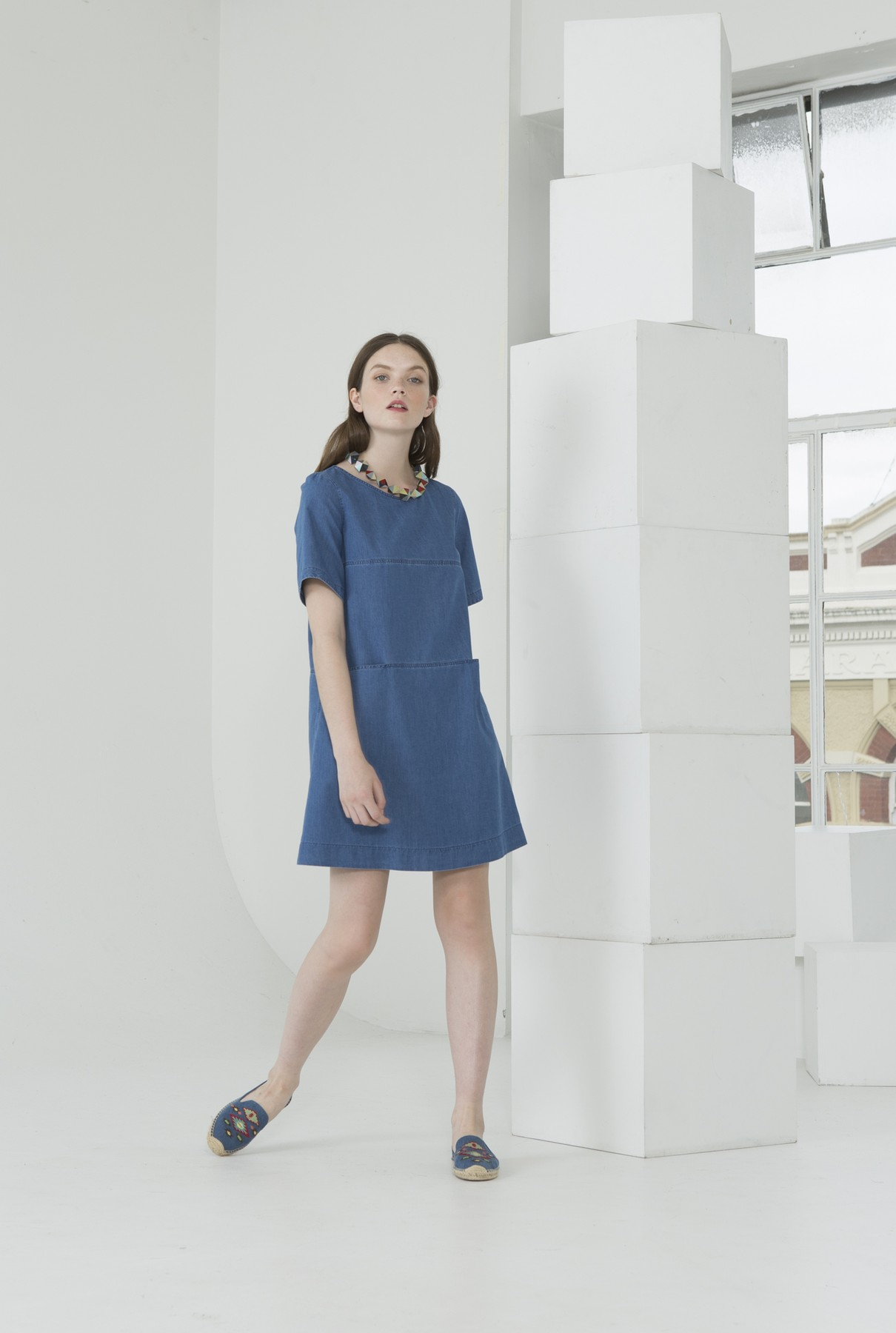 spring dress/mid blue