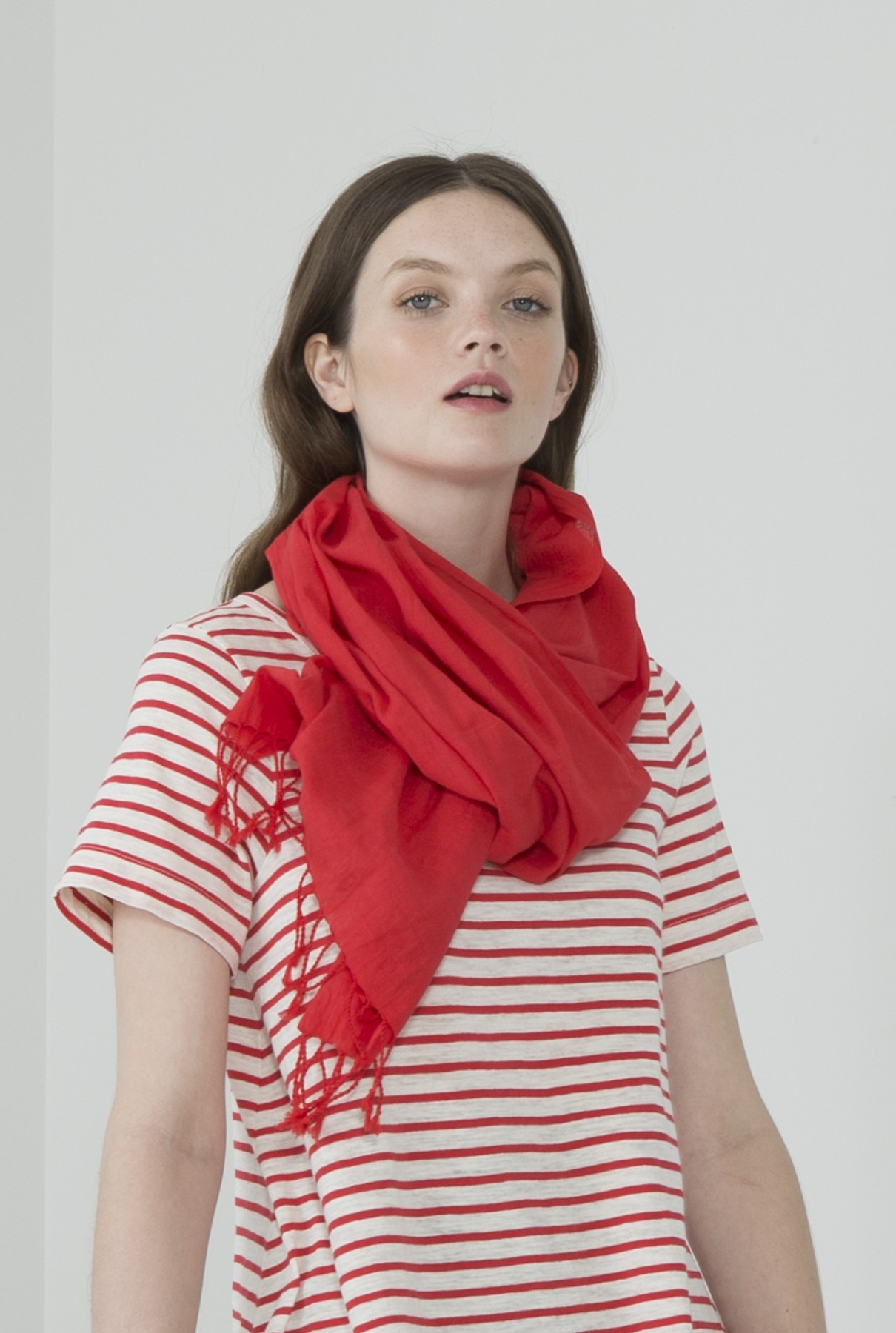 sunshade scarf/cherry